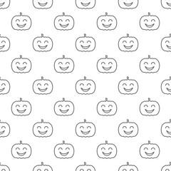 Jack o lantern elements seamless background. Halloween tileable pattern.