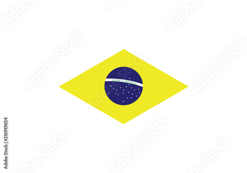 Brazil national flag green yellow country emblem state