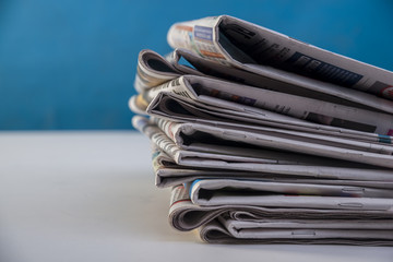 Newspapers pile background