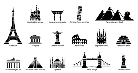 Wahrzeichen Welt - Iconset (DE)