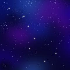 北斗七星と満天の星空