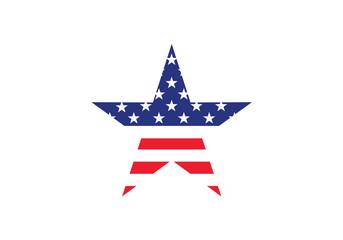 USA star shape national symbol United states america country