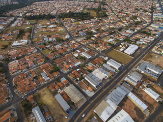 Small cities in South America, city of Botucatu in the state of Sao Paulo, Brazil, South America