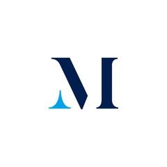 m letter initial logo vector