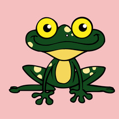 frog icon,vector drawing