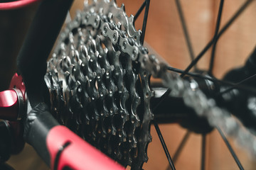 Bicycle Chain. cassette.