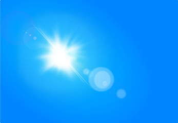 Sunny sky - Background with Lens Flare