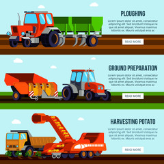 Potato Cultivation Flat Banners