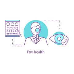 Ophthalmologist concept icon