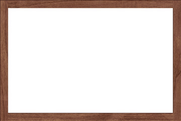 Wooden blank photo frame with empty space