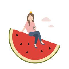 Prinzessin auf der Melone
