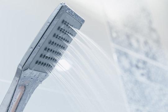 Low pressure problem shower head in bathroom clean new modern design