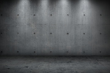 concrete wall building dark strong room  for background