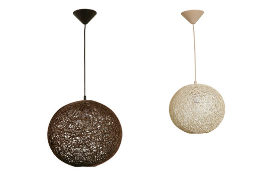 Pendant lamps isolated on white with clipping path
