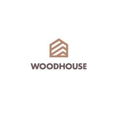 Vector logo design template for parquet, laminate, flooring. Wood house icon