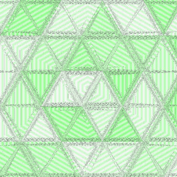 Grainy green pattern composed of mint triangles