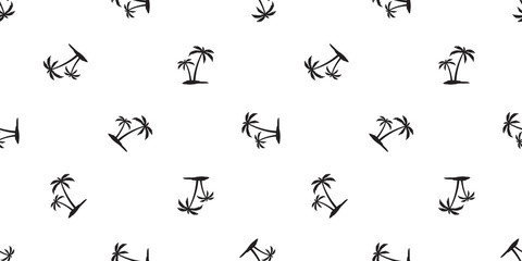 palm tree seamless pattern coconut tree vector island tile background repeat wallpaper scarf isolated illustration