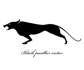 Black panther logo scene vector design on a white backgrounds