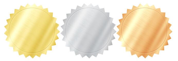 Set of various metal quality seals