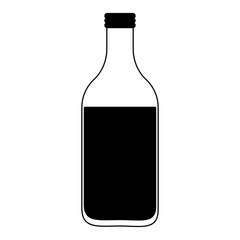 Milk bottle isolated vector illustration graphic design