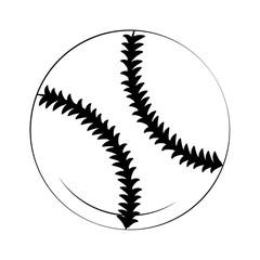 Baseball ball isolated vector illustration graphic design