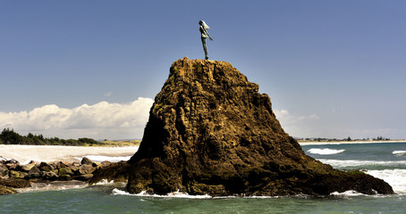 Harbour Entrance to Whakatane in the Bay of Plenty, New Zealand