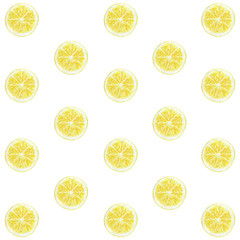 Lemon pattern watercolor