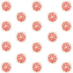 Pattern citrus grapefruit watercolor