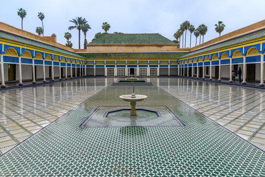Fountain in El Badi Palace, Marrakech, Morocco