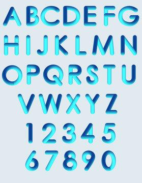 abecedario neon