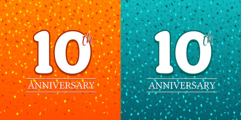 10th Anniversary Background - 10 years Celebration. Birthday Eps10 Vector.