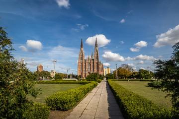 La Plata Cathedral and Plaza Moreno - La Plata, Buenos Aires Province, Argentina