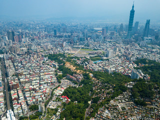Top view of Taipei city