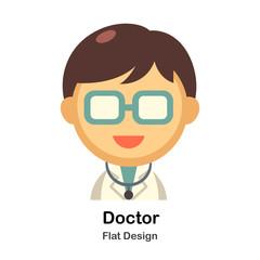 Doctor Flat Illustration