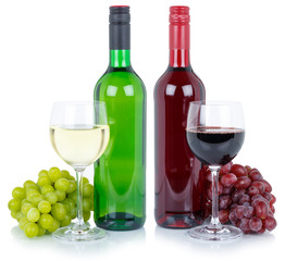 Wine tasting wines red white alcohol grapes isolated