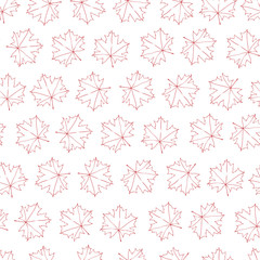 Seamless texture with autumn maple leaves. Repeating background. Tile pattern.
