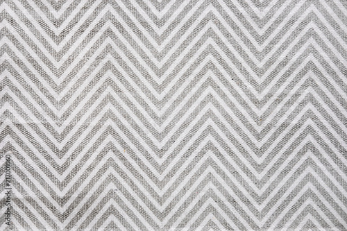 Chevron Patterned Carpet Rug Runner In White And Gray Close Up