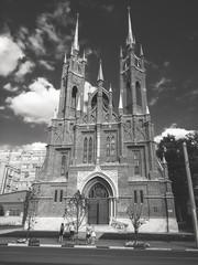Samara, Russia - July 12, 2018: The Catholic Church in Samara.