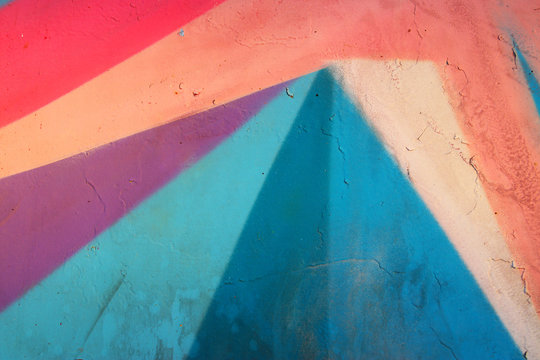 Close up of colorful wall