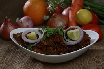 Indian meet food