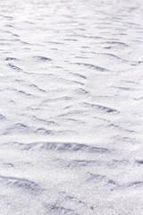 Snow dunes texture arctic north canadian landscape after snowstorm
