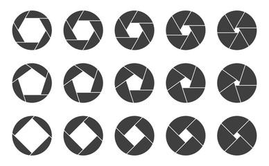 Shutters camera apertures logo icons