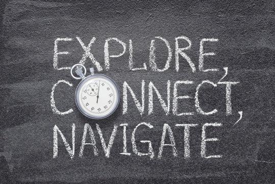 explore, connect, navigate watch