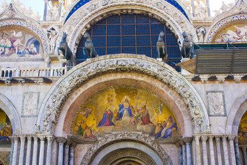 Fragment of Basilica San Marco in Venice, Italy