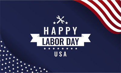 Labor day greeting card or background. vector illustration.
