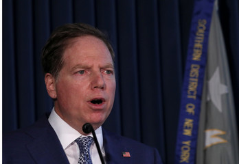 U.S. Attorney for the Southern District of New York Berman holds news conference to announce insider trading charges against U.S. Congressman Collins in New York