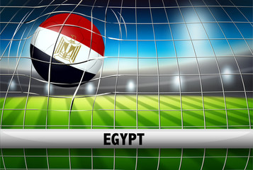 Egypt soccer ball flag