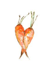 watercolor carrot