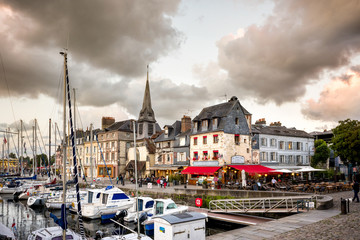 Honfleur sunset in Normandy France