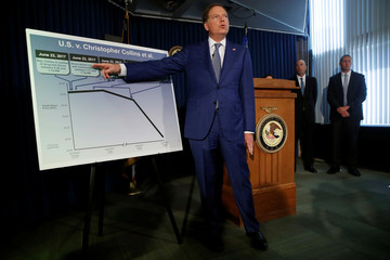 U.S. Attorney for the Southern District of New York Geoffrey Berman speaks during a news conference in New York